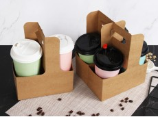 Eco-Friendly Coffee Milk Tea Takeaway Portable Cup Holder 2 Cups 4 Cups Free Combination