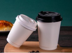 Eco-Friendly Double-Layer Bright White Hollow Paper Cup Heat-Insulated