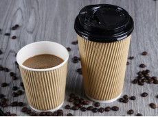Eco-Friendly Double-Layer Corrugated Paper Cup Heat-Insulated