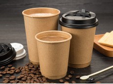 Eco-Friendly Double-Layer Thickened Heat-resistant Kraft Paper Hollow Cup
