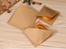 Eco-Friendly Oil-Proof Kraft Paper Triangle Paper Snack Hamburger Bag