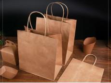 Eco-friendly Kraft Paper Bag Takeaway Tote Bag Extra Large Foodpanda Deliveroo 33X17.8X33Cm Takeaway Paper Bag