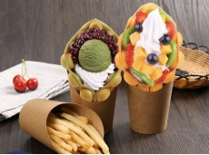 Environmental-Friendly 12oz French Fries Cup Bevelled Snack Box