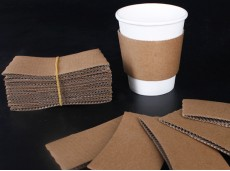 Environmental-friendly Blank Kraft Paper Hot Drink Cup Coffee Thickened Hot Cup Heat Insulator