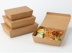 Environmental-friendly Kraft Paper Meal Box Salad Paper Box Cover Ear Detacheable