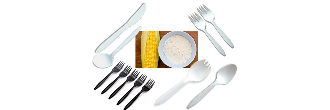 Eco-friendly Starch Biodegradable Tableware 6-Inch Cutlery