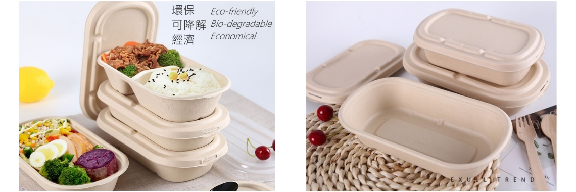 Degradable Straw Pulp Economical Eco-Friendly Meal Box